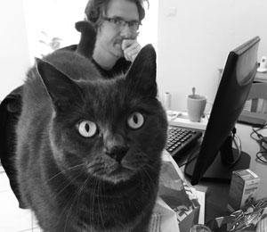 Photo de Boris Noro avec son chat